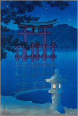 Canvas print  Starlit Night - Kawase Hasui