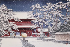Gallery print  Snow at Zojoji Temple - Kawase Hasui