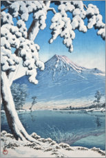 Acrylic print  Fuji after the snow in Tagonoura Bay - Kawase Hasui