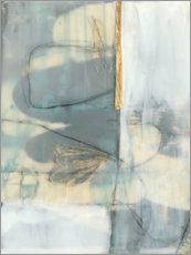 Aluminium print  Gilded mood I - Jennifer Goldberger