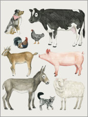 Wall sticker  Farmyard family III - Grace Popp