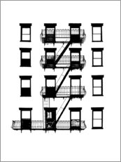 Gallery print  Windows and balconies - Jeff Pica
