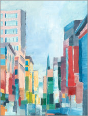 Foam board print  Colorful city - Ethan Harper