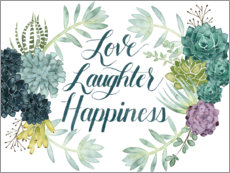 Premium poster  Love laughter happiness (english) - Grace Popp