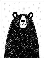Acrylic print  Friendly grizzly bear - Victoria Borges