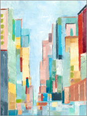 Premium poster  Abstract city - Ethan Harper