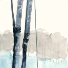 Wall sticker  Birches in the woods i - Jennifer Goldberger