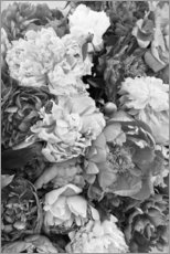 Foam board print  Peonies Black and White - Studio Nahili