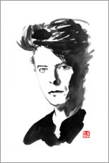 Wood print  David Bowie - Péchane