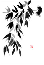 Wall sticker  Falling Bamboos - Péchane