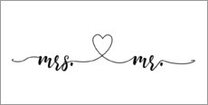 Canvas print  Miss and Mister - Typobox