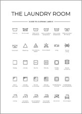 Premium poster  Clothing labels - Typobox