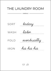 Foam board print  Laundry schedule - Typobox