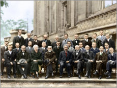 Acrylic print  Fifth Solvay Conference, 1927 (colored)