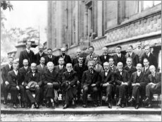 Wood print  Fifth Solvay Conference, 1927