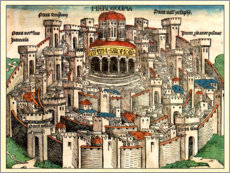 Canvas print  Jerusalem in 1490 - Michael Wohlgemut