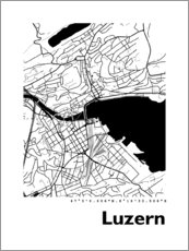 Acrylic print  City map of Lucerne - 44spaces