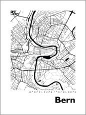 Premium poster City map of Bern