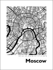 Premium poster  City map of Moscow - 44spaces