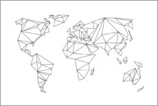 Gallery print  Geometrical world map - Studio Nahili