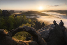 Premium poster  Scenic view in Saxon Switzerland - Tobias Richter