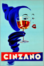 Wood print  Cinzano - Advertising Collection