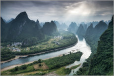 Canvas print  Xingping on the Li River, China - Jan Christopher Becke