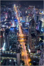Canvas print  Shenzhen downtown at night - Jan Christopher Becke