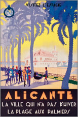 Gallery print  Alicante (French) - Travel Collection