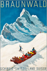 Premium poster  Braunwald - Travel Collection