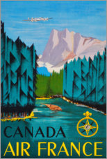 Wood print  Canada (English) - Travel Collection