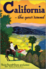 Premium poster  California (English) - Travel Collection