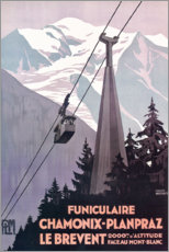 Premium poster  Chamonix-Mont-Blanc (French) - Travel Collection
