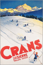 Premium poster  Crans-Montana (French) - Travel Collection