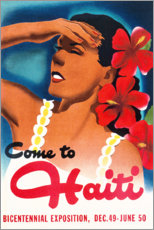 Premium poster  Come to Haiti - Travel Collection
