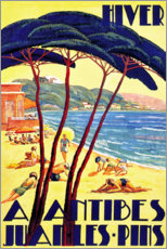 Premium poster  Winter in Antibes (French) - Travel Collection
