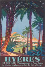 Premium poster  Hyeres (French) - Travel Collection
