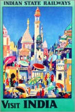 Premium poster  Visits India (English) - Travel Collection