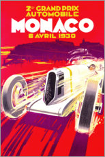 Premium poster Grand Prix of Monaco 1930 (French)