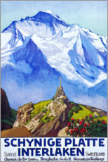 Premium poster  Interlaken (French) - Travel Collection