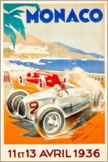 Premium poster Grand Prix of Monaco 1936 (French)