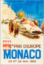 Premium poster Grand Prix of Monaco 1963 (French)