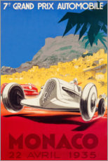 Premium poster Grand Prix of Monaco 1935 (French)