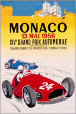 Premium poster Grand Prix of Monaco 1956 (French)
