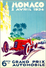 Foam board print  Grand Prix of Monaco 1934 (French) - Travel Collection