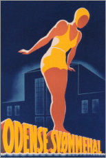 Premium poster  Odense swimming pool (Swedish) - Travel Collection
