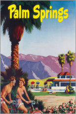 Premium poster  Palm Springs - Travel Collection
