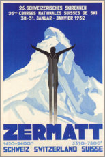 Acrylic print  Zermatt - Travel Collection