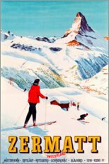 Premium poster  Zermatt - Travel Collection