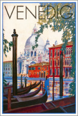 Premium poster  Venice (German) - Travel Collection